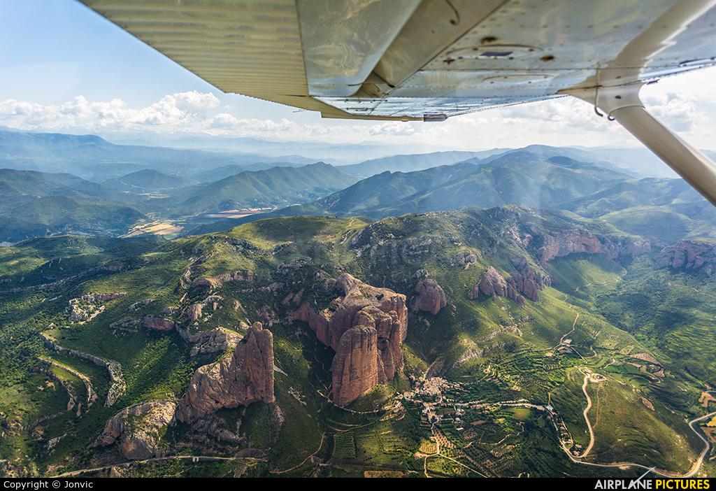 Private EC-KPN aircraft at Huesca-Pirineos
