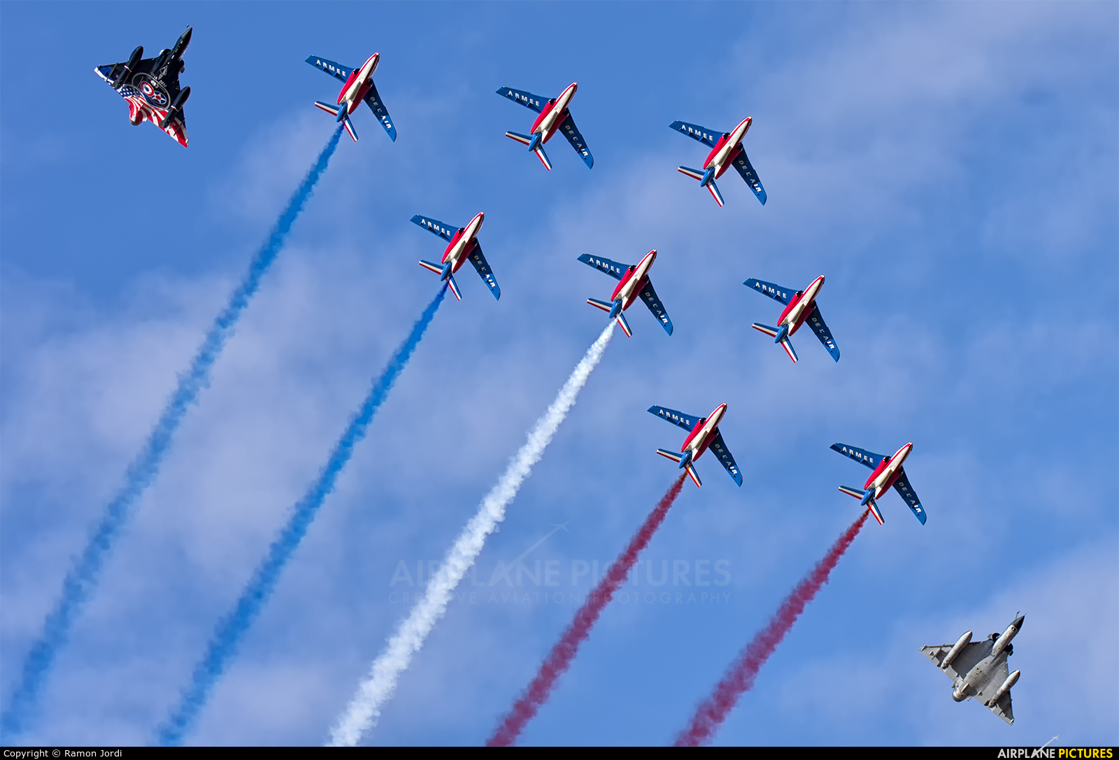 """France - Air Force """"Patrouille de France"""" F-TERP aircraft at Istres - Le Tube"""