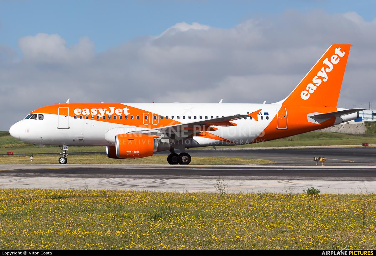 easyJet G-EZBV aircraft at Lisbon