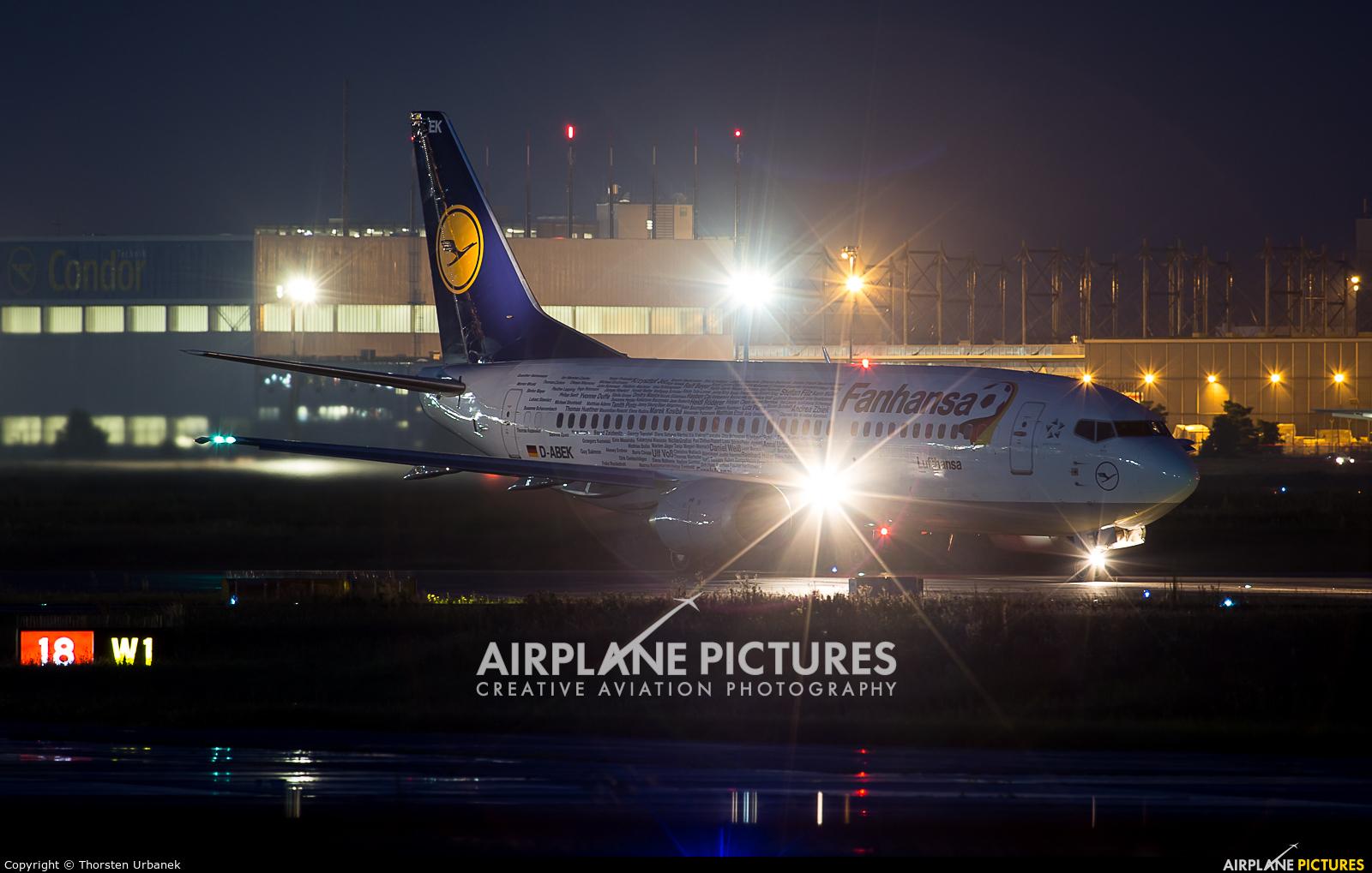 Lufthansa D-ABEK aircraft at Frankfurt