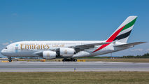 A6-EEW - Emirates Airlines Airbus A380 aircraft