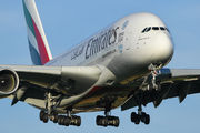 A6-EEK - Emirates Airlines Airbus A380 aircraft