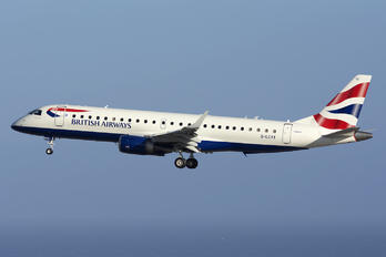 G-LCYX - British Airways - City Flyer Embraer ERJ-190 (190-100)