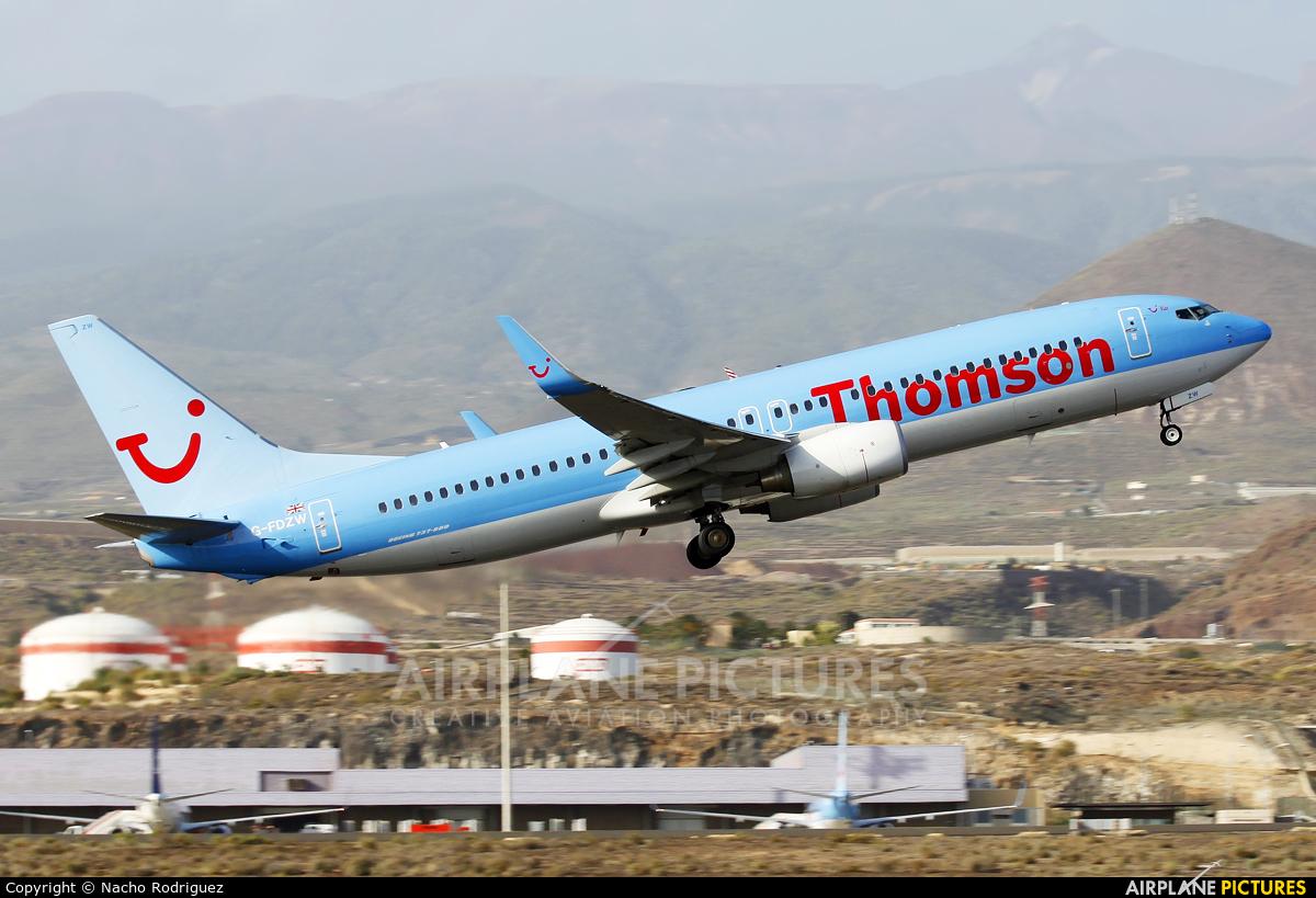 Thomson/Thomsonfly G-FDZW aircraft at Tenerife Sur - Reina Sofia