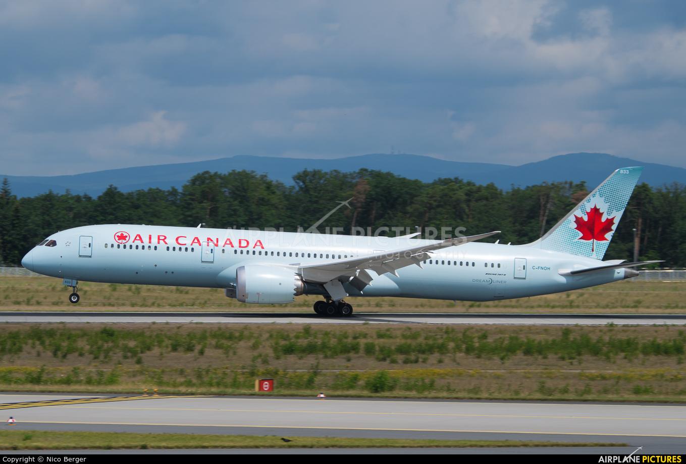 Air Canada C-FNOH aircraft at Frankfurt
