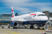 G-EUYX - British Airways Airbus A320 aircraft