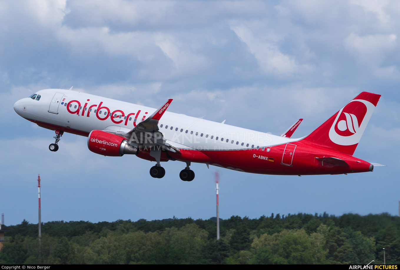 Air Berlin D-ABNX aircraft at Berlin - Tegel