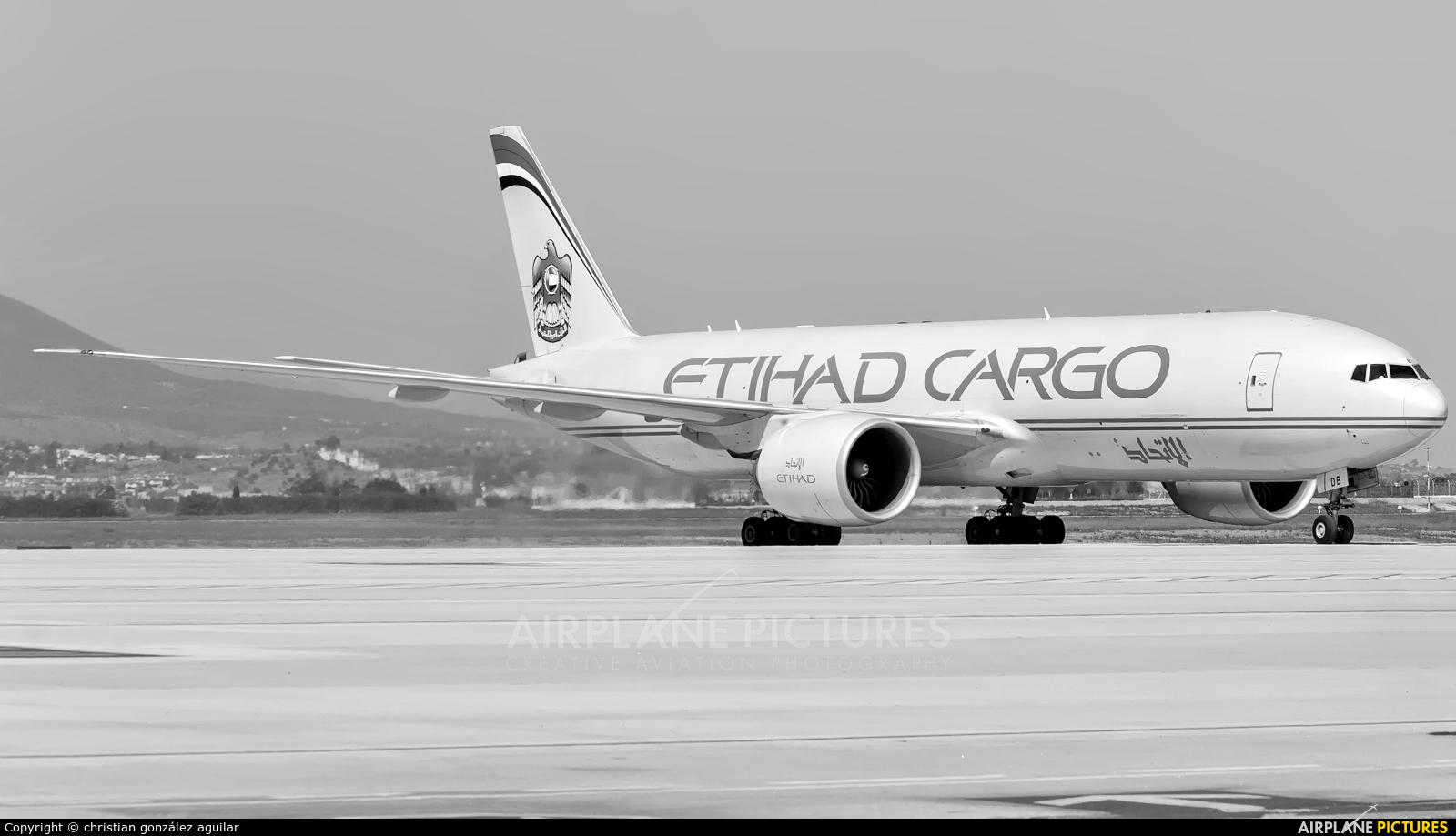 Etihad Cargo A6-DDB aircraft at Málaga