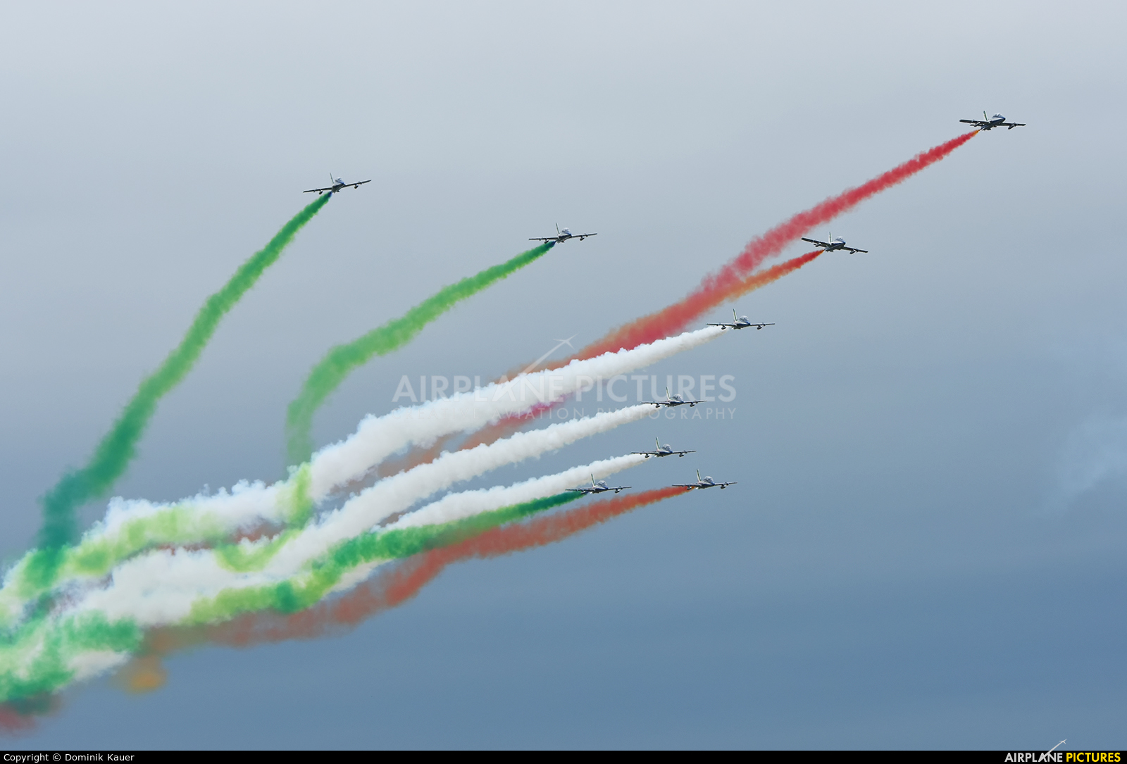 """Italy - Air Force """"Frecce Tricolori"""" - aircraft at Fairford"""