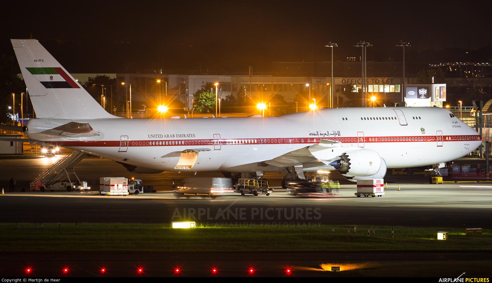 United Arab Emirates - Government A6-PFA aircraft at London - Heathrow