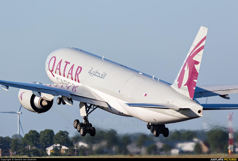 Qatar Airways Cargo A7-BFC aircraft at Amsterdam - Schiphol