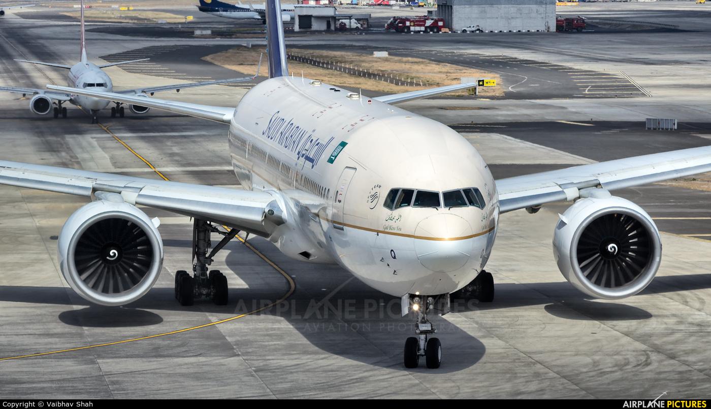 Saudi Arabian Airlines HZ-AKQ aircraft at Mumbai - Chhatrapati Shivaji Intl