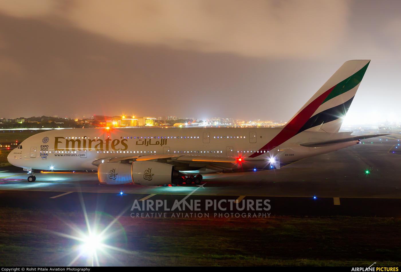 Emirates Airlines A6-EOO aircraft at Mumbai - Chhatrapati Shivaji Intl