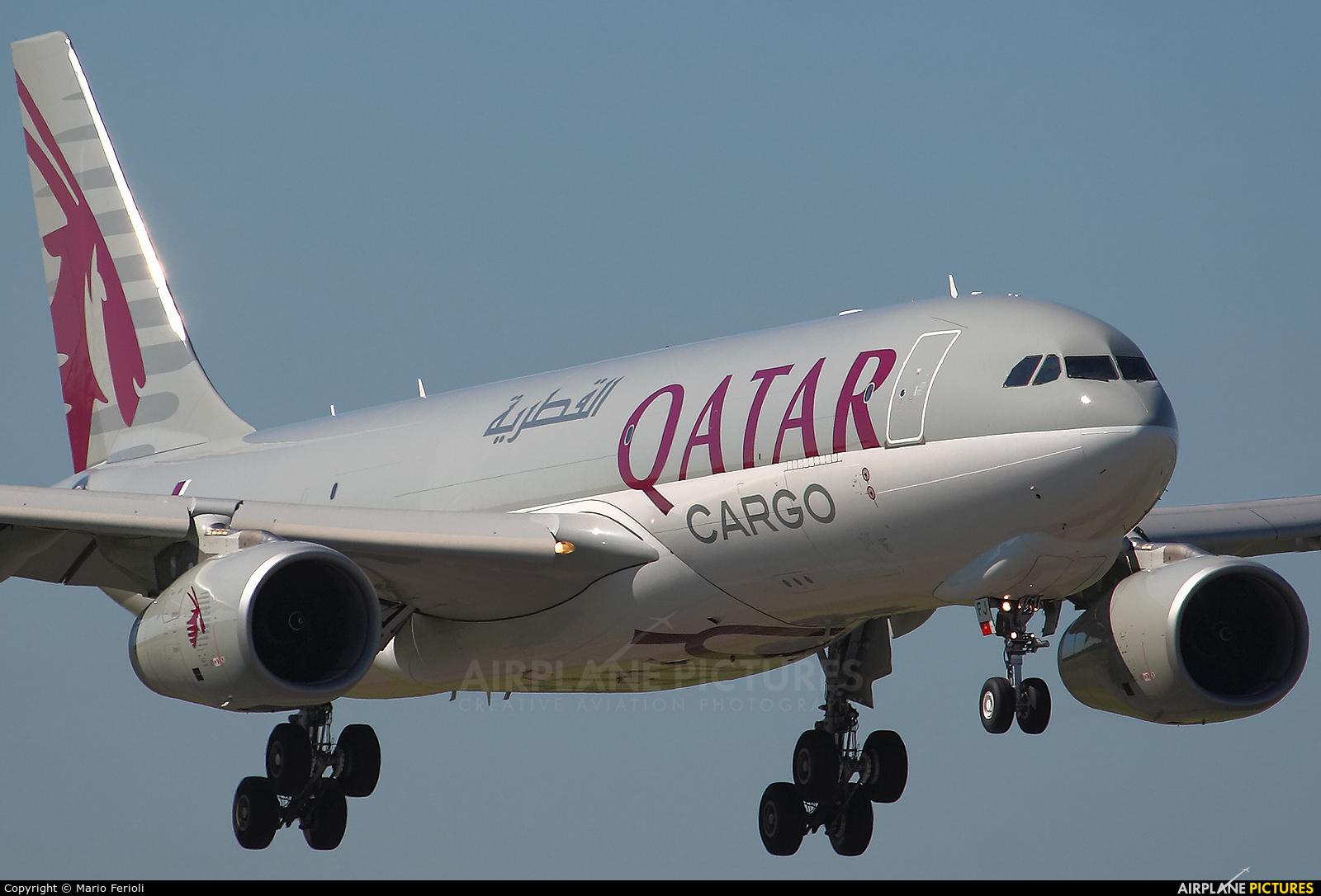 Qatar Airways Cargo A7-AFJ aircraft at Milan - Malpensa