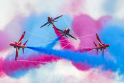 "- - Royal Air Force ""Red Arrows"" British Aerospace Hawk T.1/ 1A aircraft"