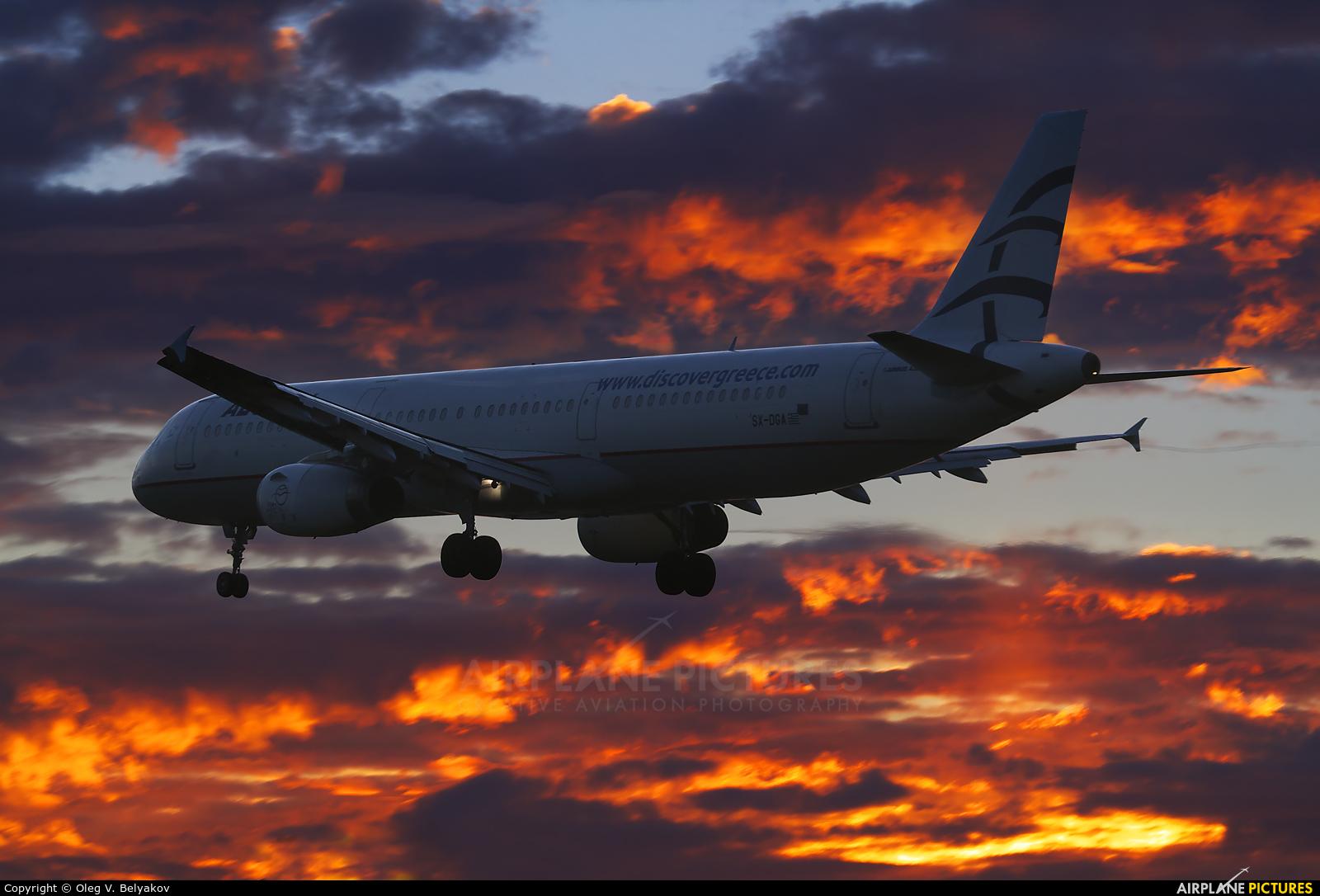 Aegean Airlines SX-DGA aircraft at London - Heathrow