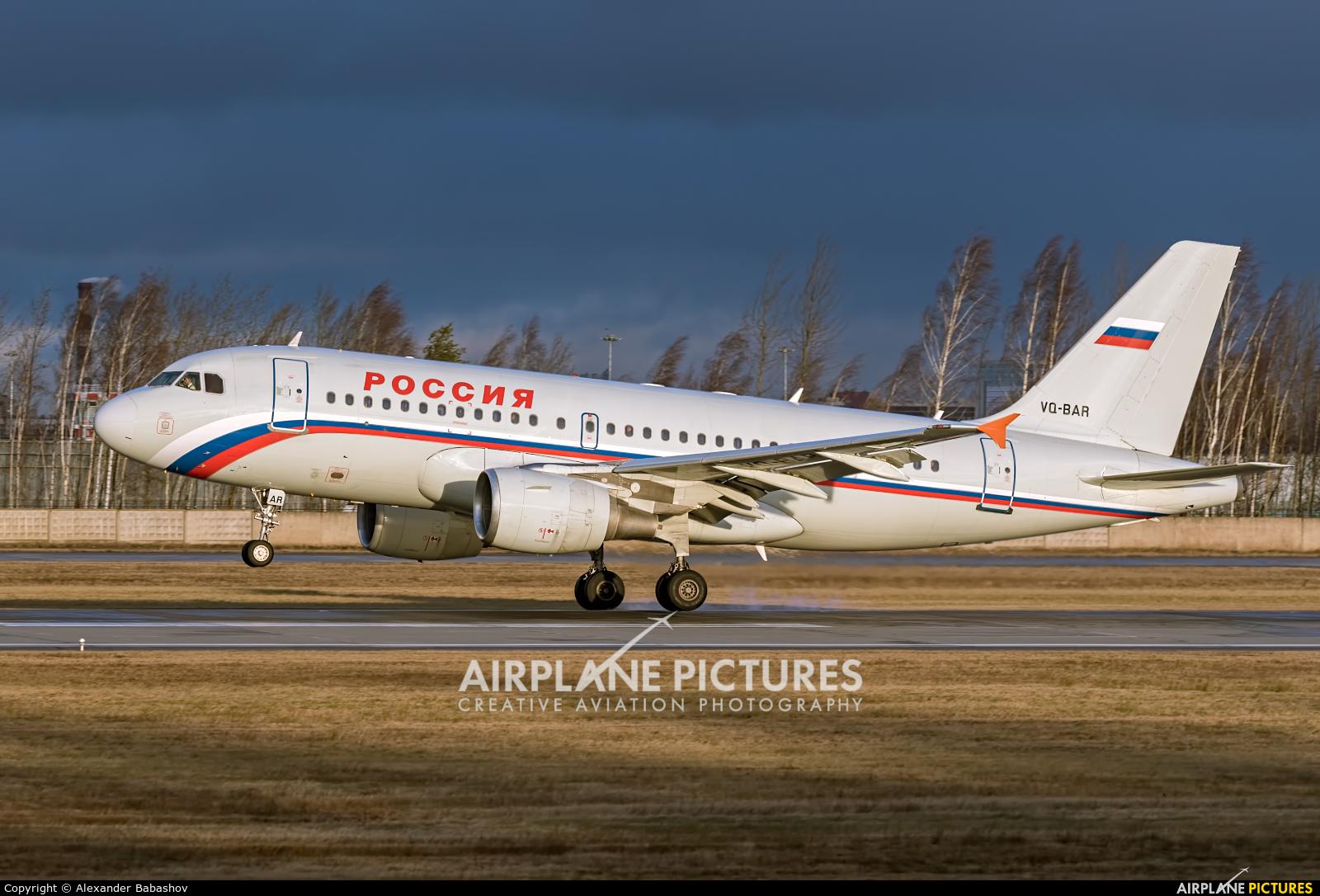 Rossiya Airbus A319 VQ-BAR