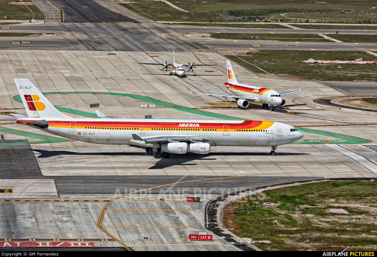 Iberia EC-GJT aircraft at Madrid - Barajas