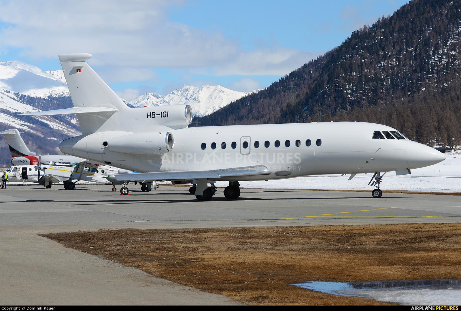 Private HB-IGI aircraft at Samedan - Engadin