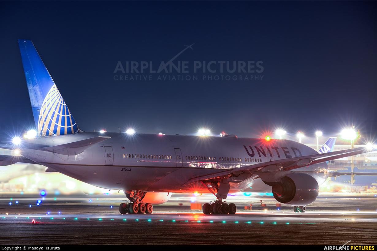 United Airlines N216UA aircraft at Tokyo - Narita Intl