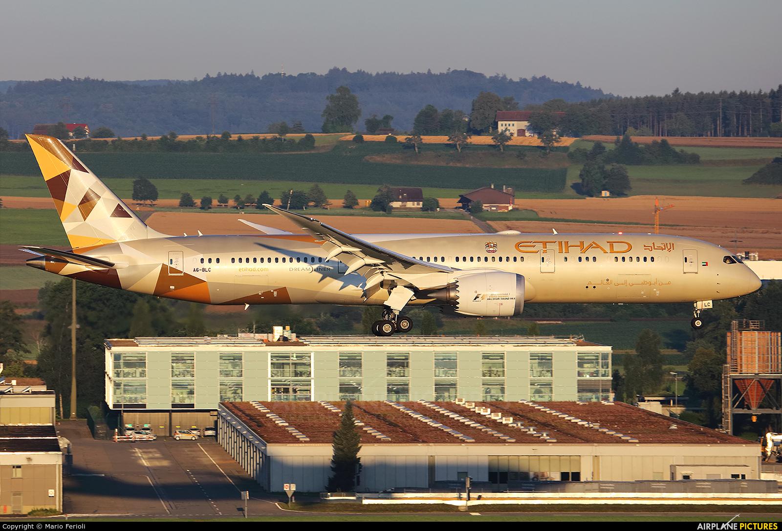 Etihad Airways A6-BLC aircraft at Zurich