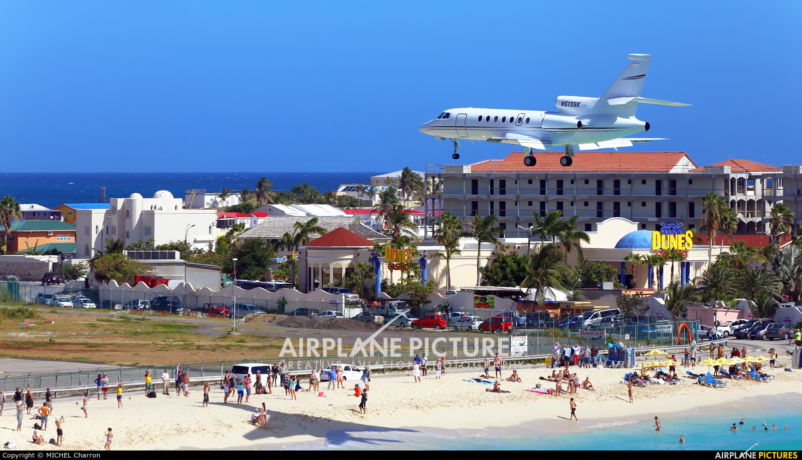 Private N513SK aircraft at Sint Maarten - Princess Juliana Intl