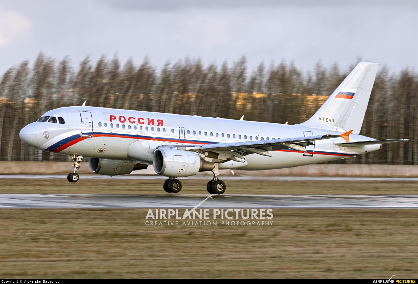 Rossiya Airbus A319 VQ-BAQ
