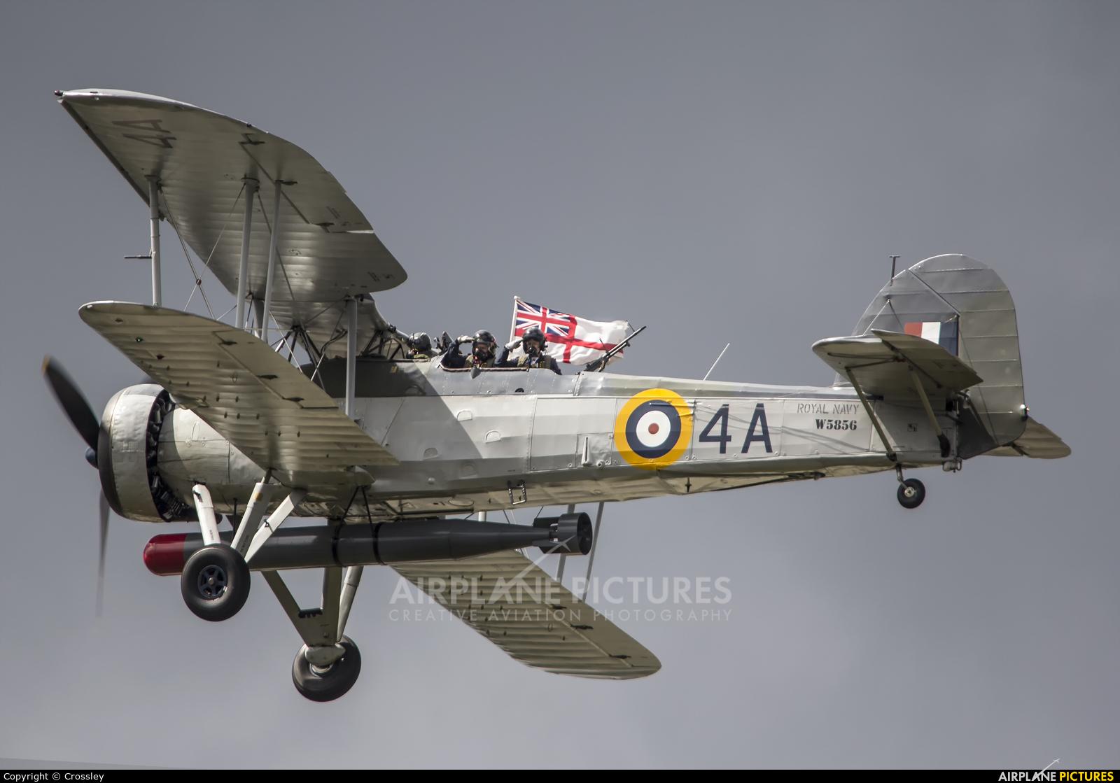 """Royal Navy """"Historic Flight"""" W5856 aircraft at Farnborough"""