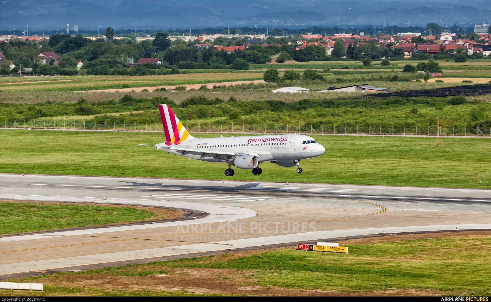 Germanwings D-AKNU aircraft at Zagreb