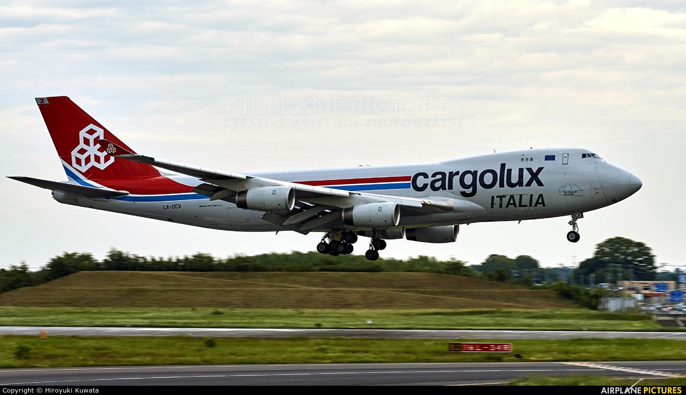 Cargolux Italia LX-OCV aircraft at Tokyo - Narita Intl