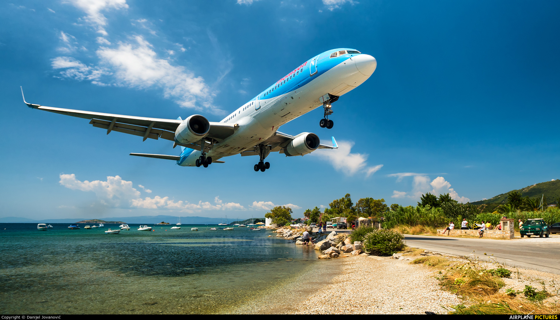Thomson/Thomsonfly G-CPEU aircraft at Skiathos