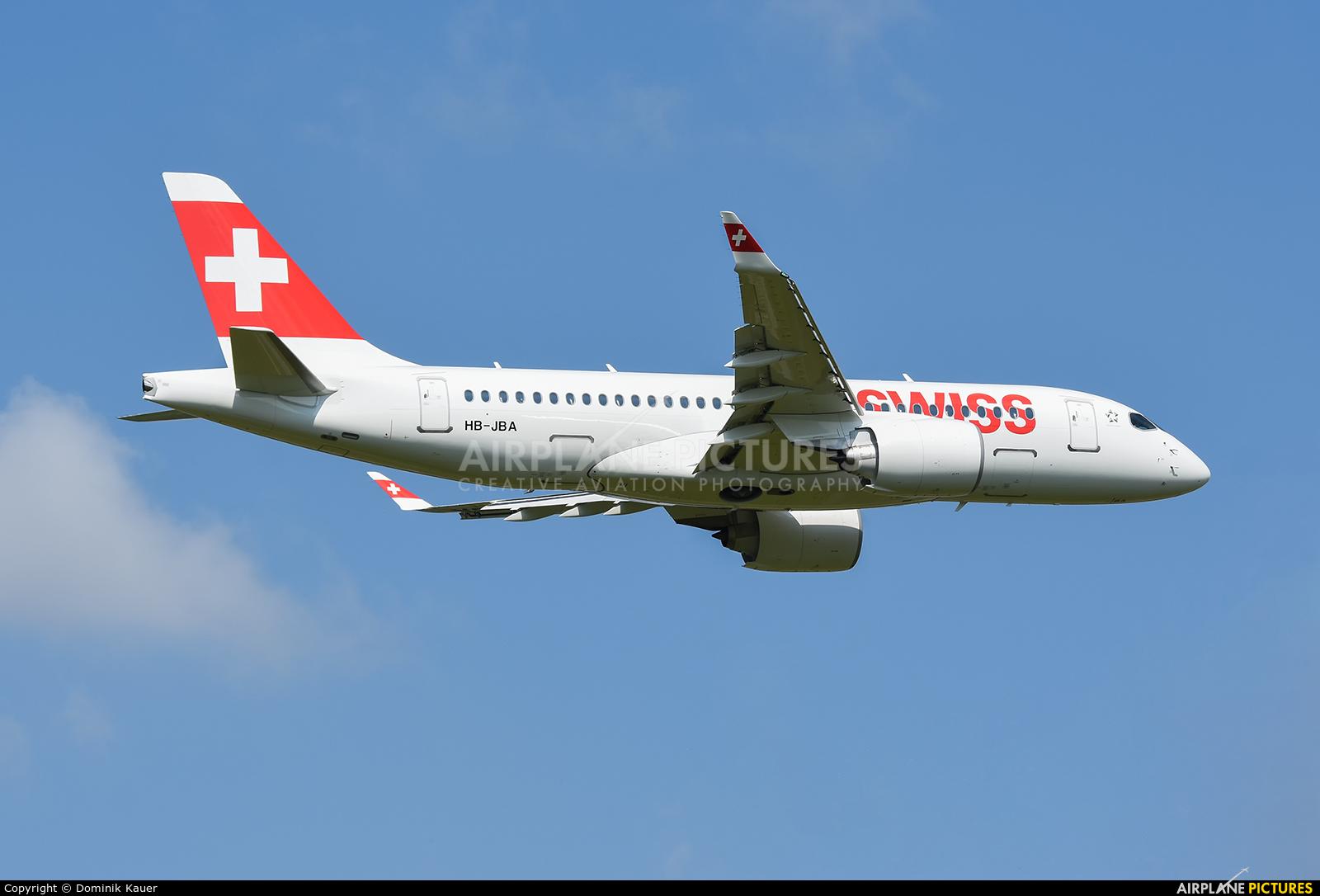 Swiss HB-JBA aircraft at Zurich