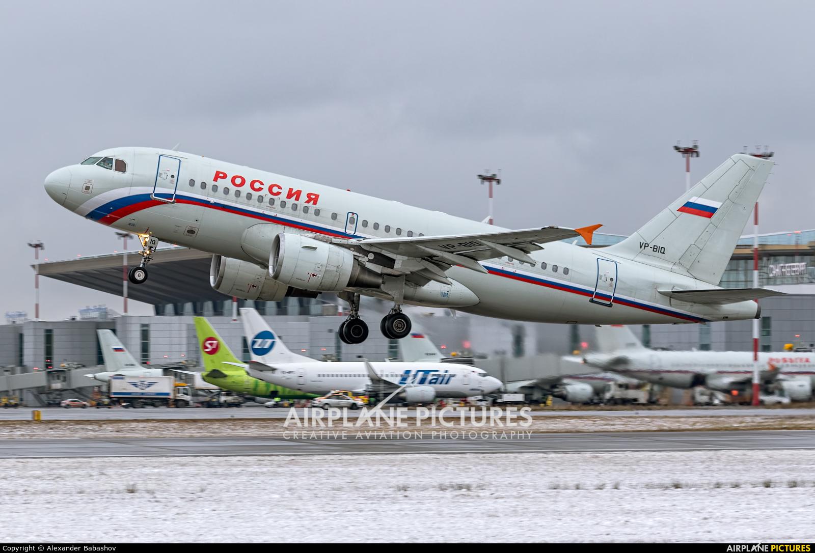 Rossiya Airbus A319 VP-BIQ