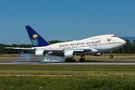 Saudi Arabia Royal Flight 747SP C-check visit at Basel