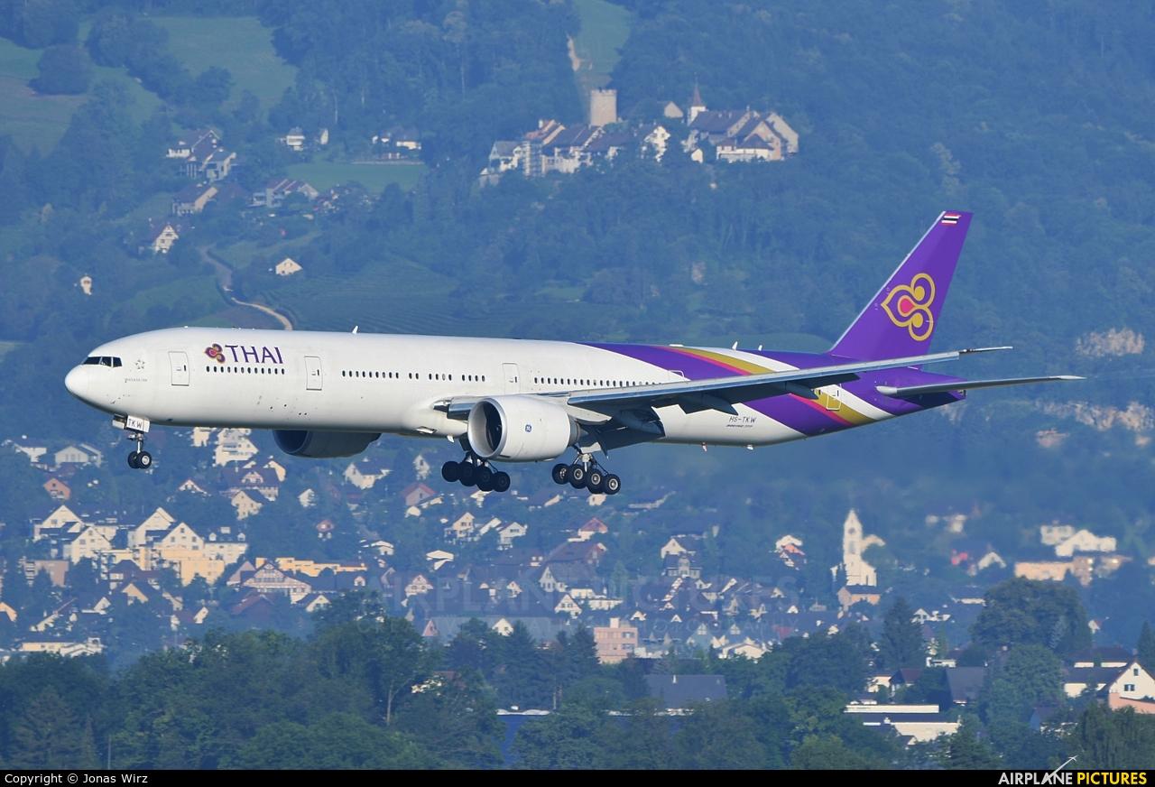 Thai Airways HS-TKW aircraft at Zurich