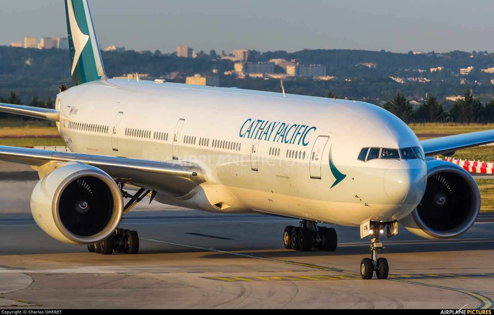 Cathay Pacific B-KPM aircraft at Paris - Charles de Gaulle