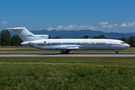 Rare Boeing 727 at Basel for maintenance