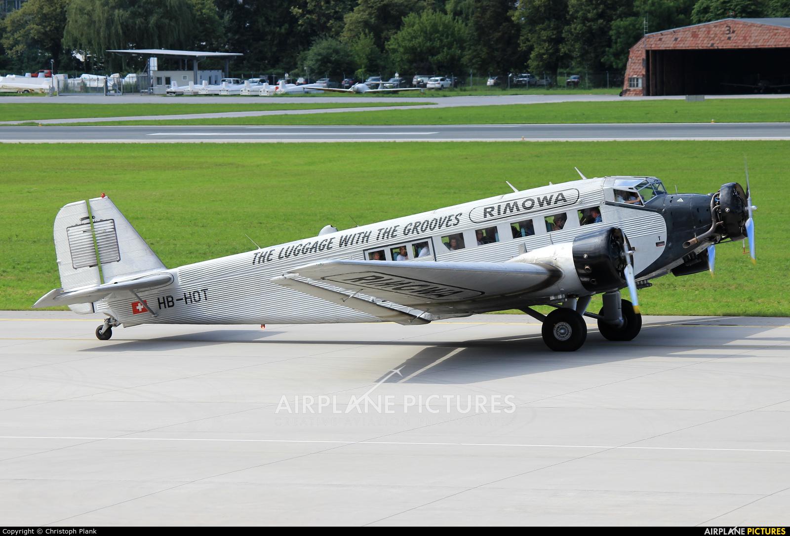 Ju-Air HB-HOT aircraft at Innsbruck