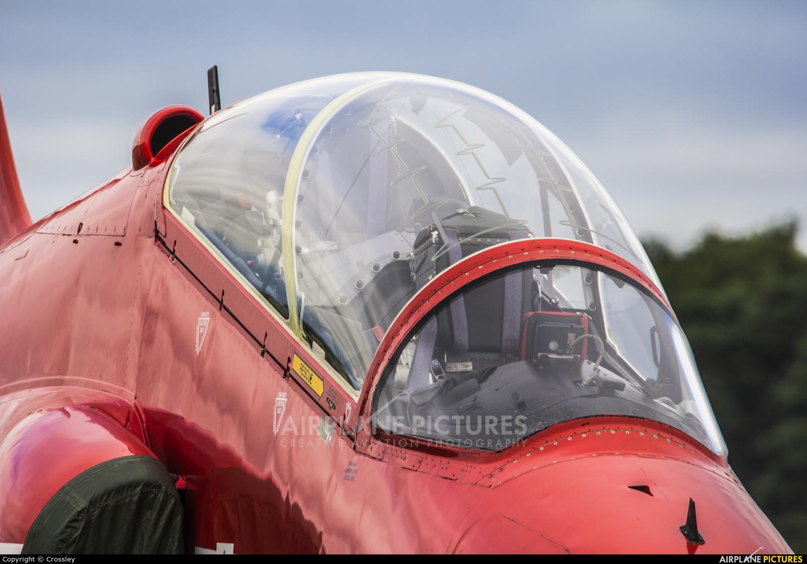 "Royal Air Force ""Red Arrows"" XX322 aircraft at Farnborough"