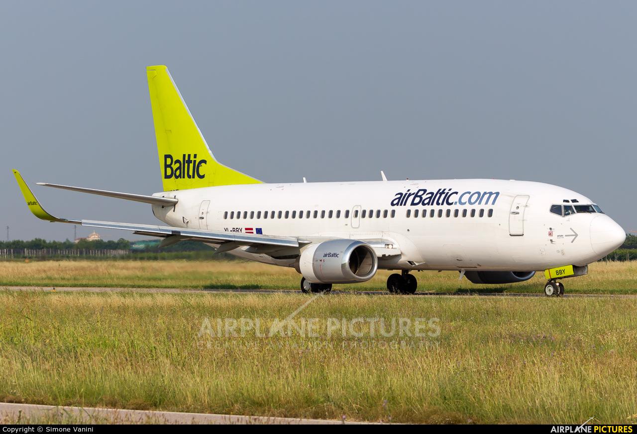 Air Baltic YL-BBY aircraft at Verona - Villafranca