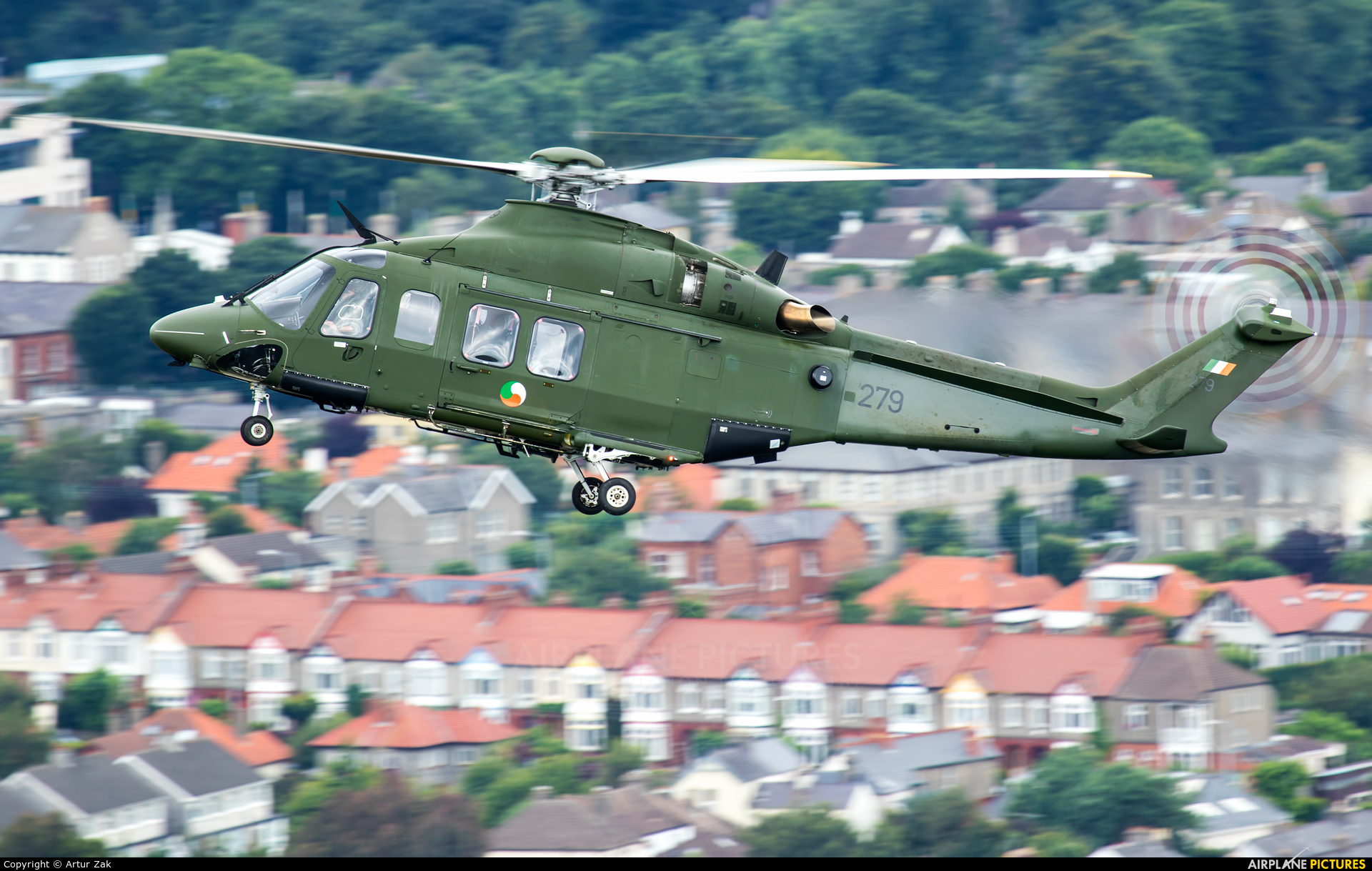 Ireland - Air Corps 279 aircraft at Bray - Off Airport