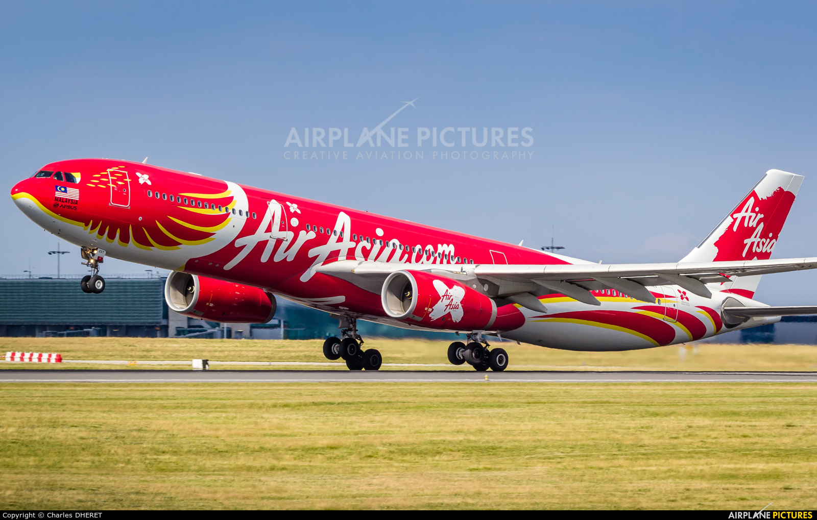 AirAsia X 9M-XXT aircraft at Paris - Charles de Gaulle