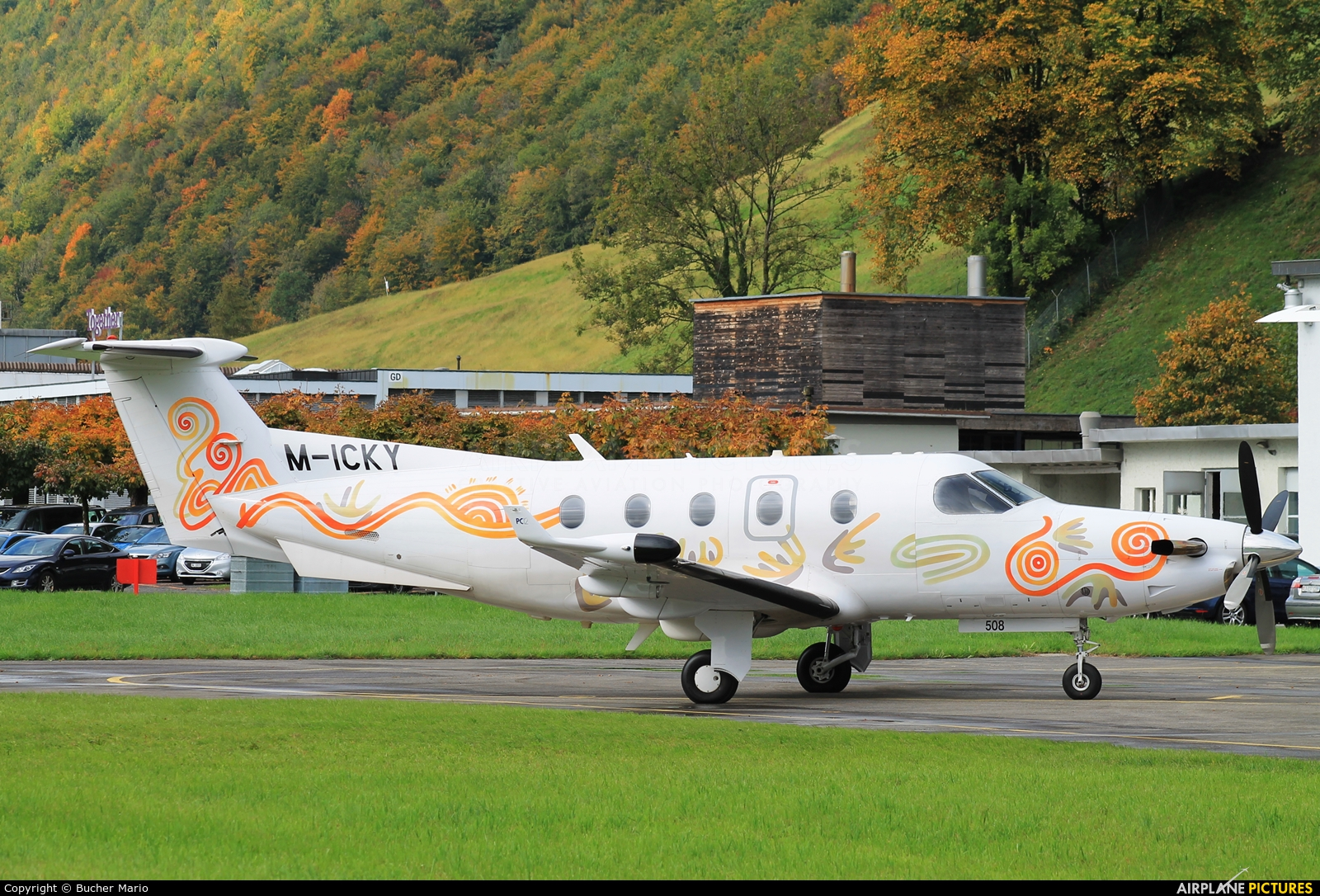 Private M-ICKY aircraft at Buochs