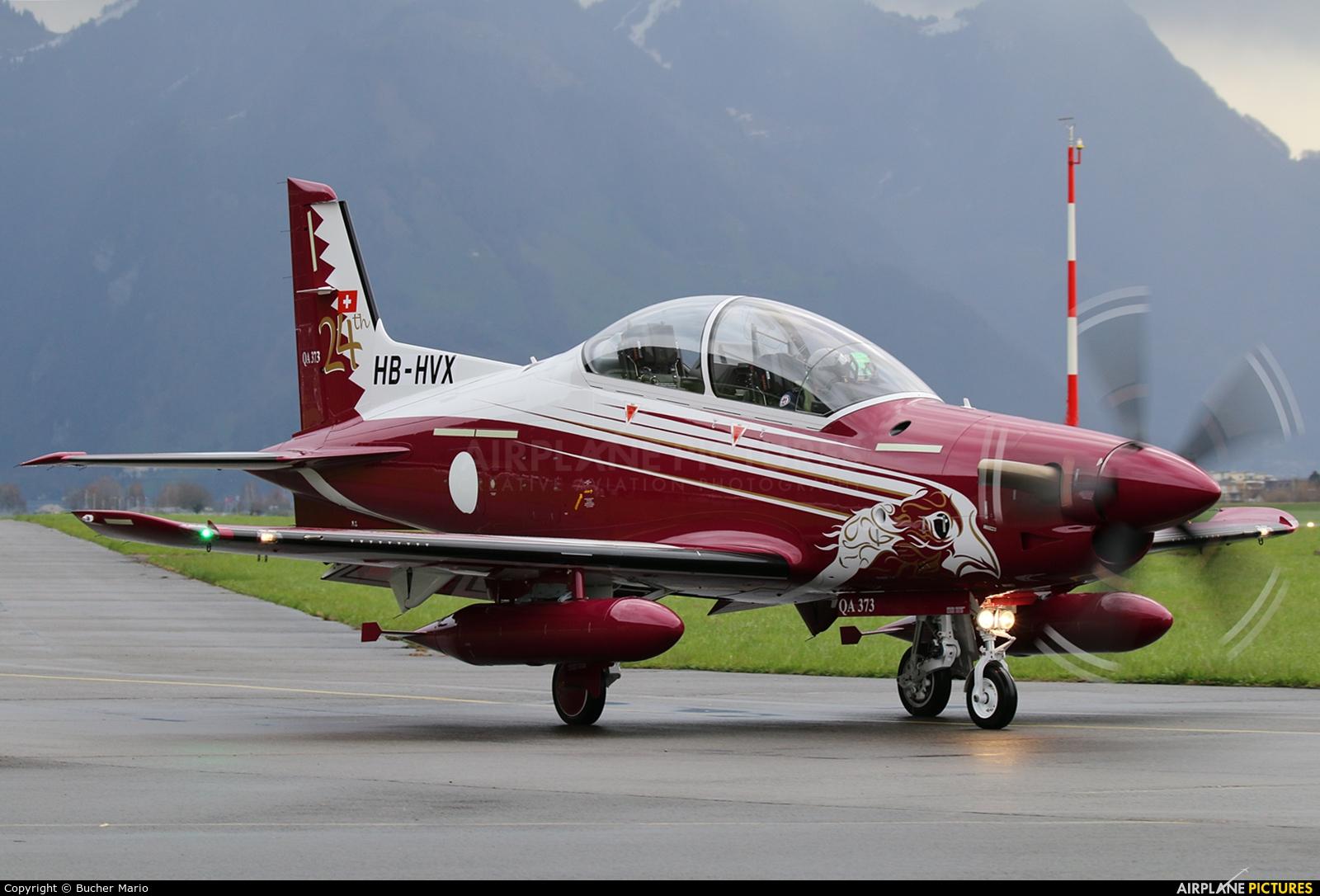 Qatar Amiri - Air Force HB-HVX aircraft at Buochs