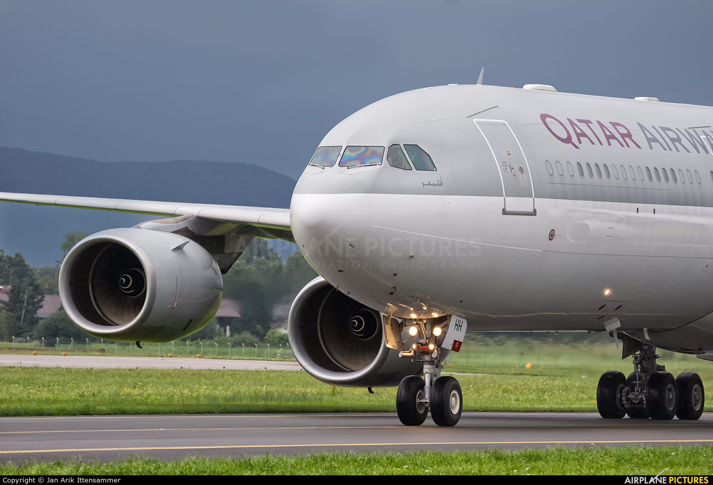 Qatar Amiri Flight A7-HHH aircraft at Salzburg