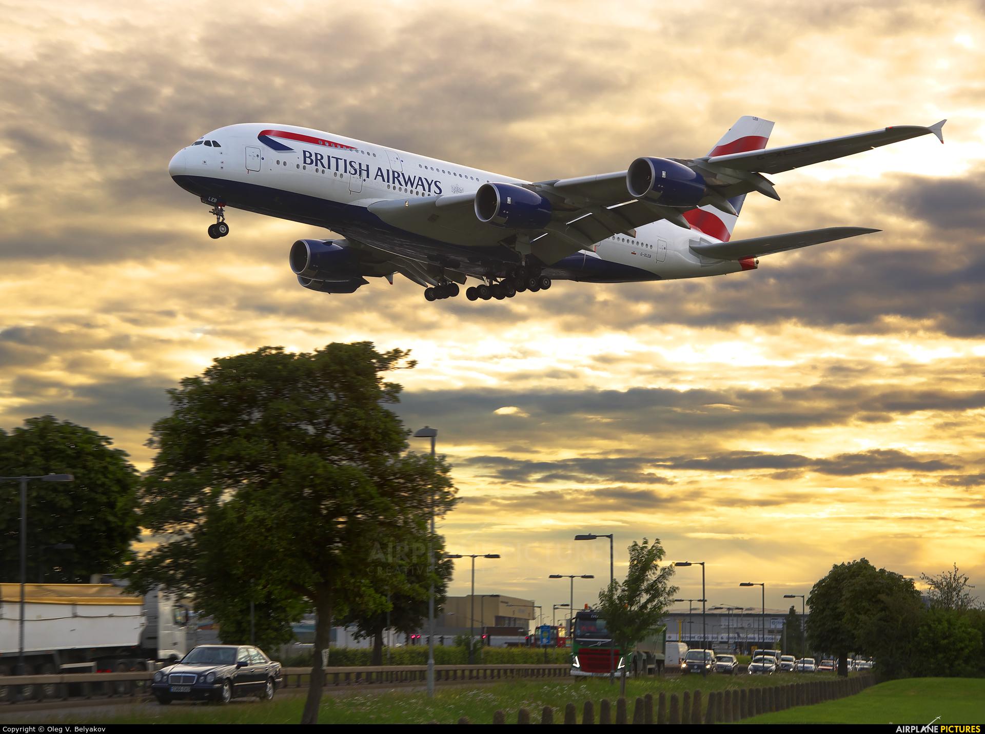 British Airways G-XLEB aircraft at London - Heathrow
