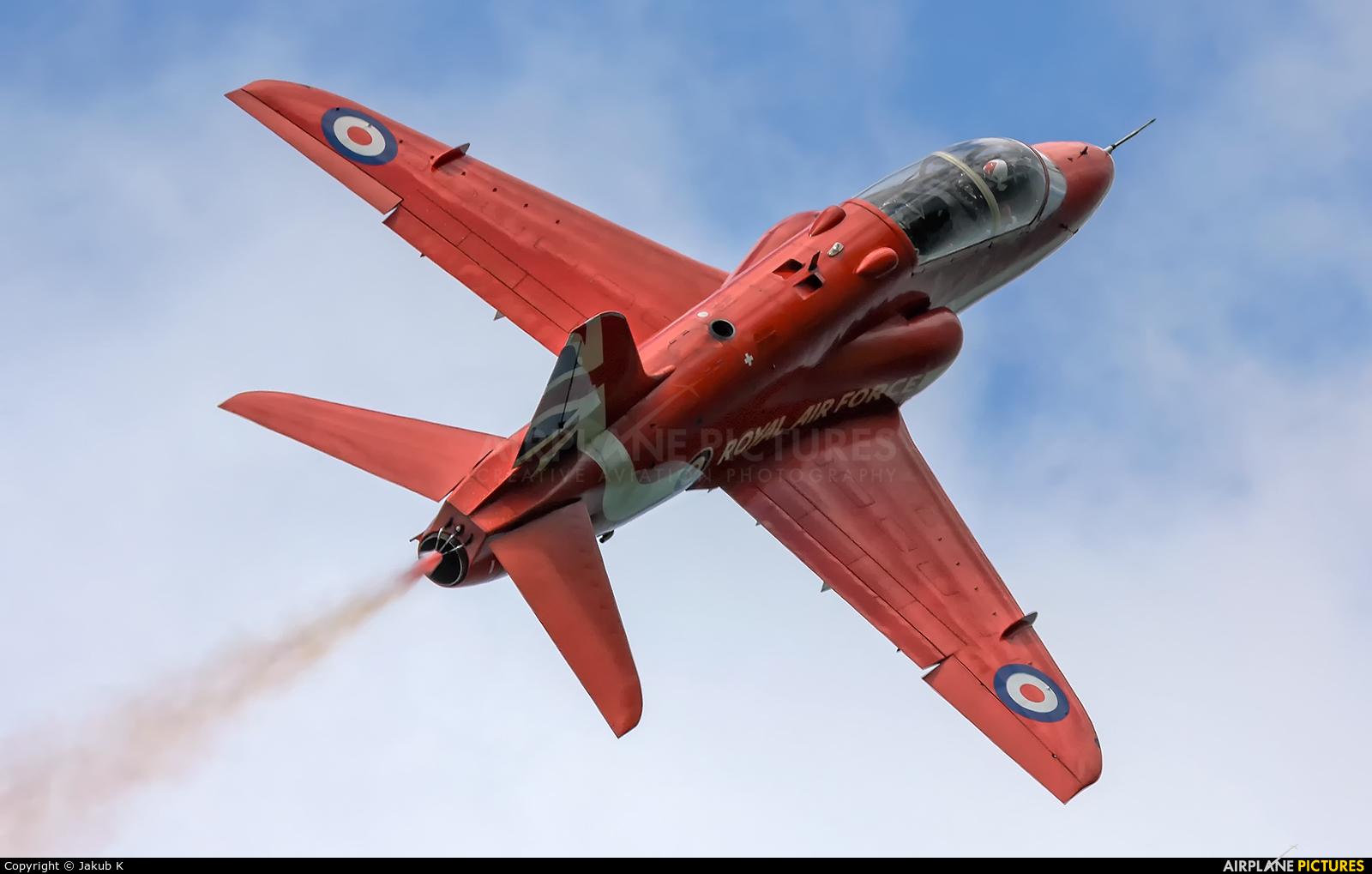 "Royal Air Force ""Red Arrows"" XX322 aircraft at Bray - Off Airport"