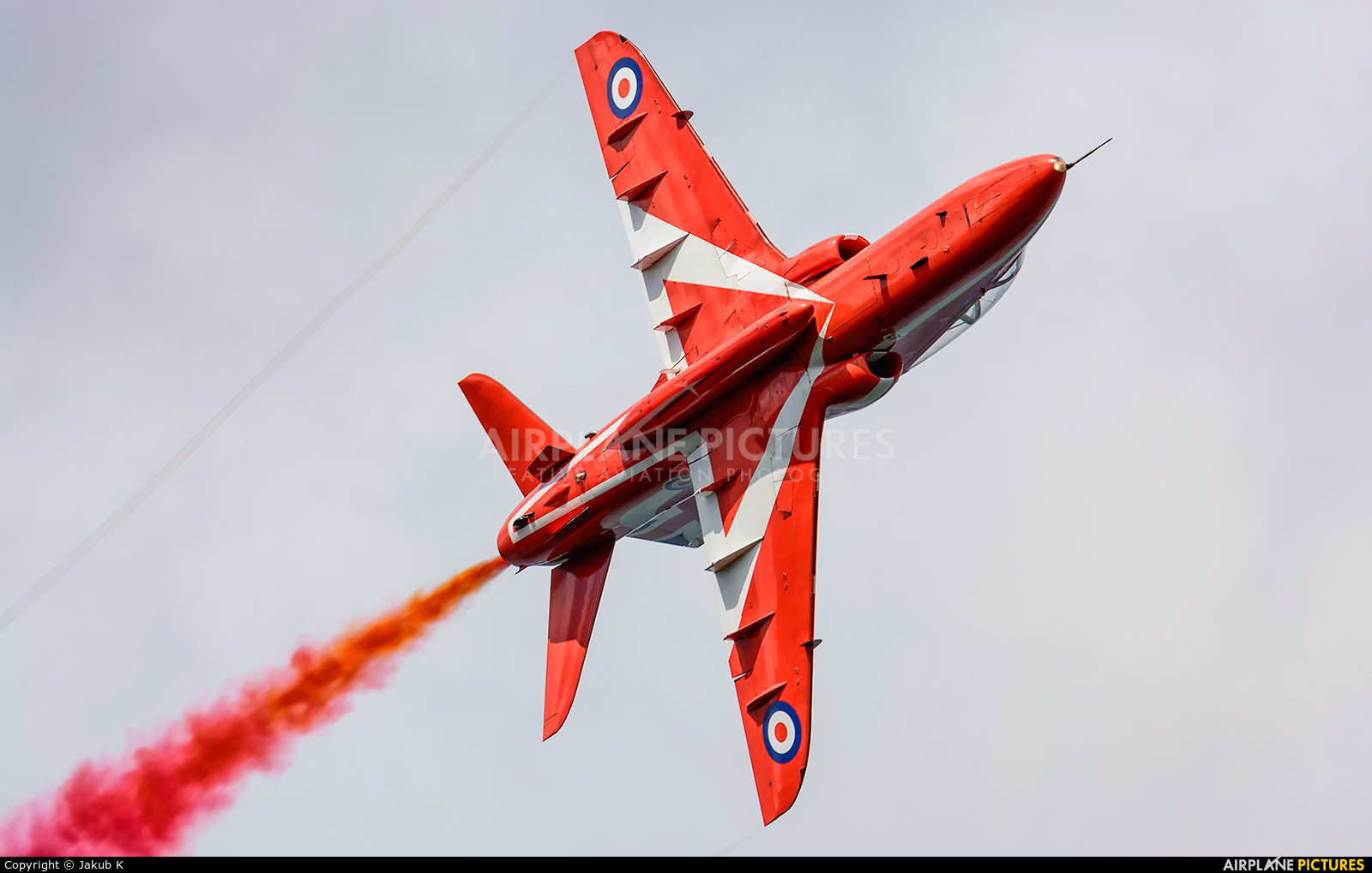"Royal Air Force ""Red Arrows"" XX242 aircraft at Bray - Off Airport"
