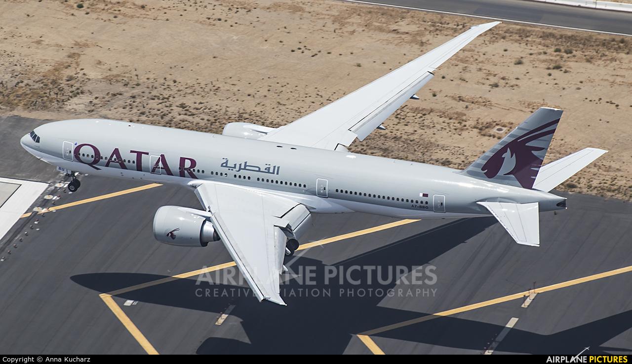 Qatar Airways A7-BBG aircraft at Los Angeles Intl