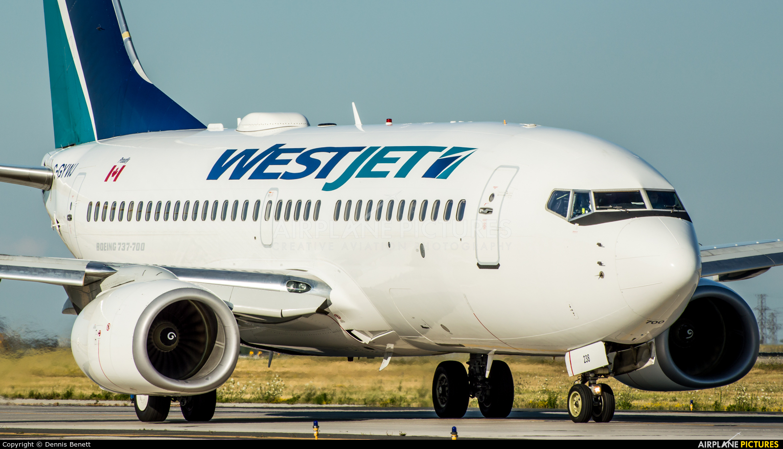 WestJet Airlines C-GYWJ aircraft at Toronto - Pearson Intl, ON